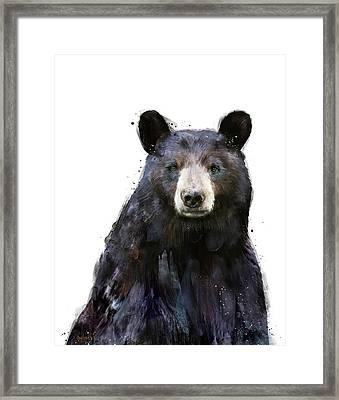 Black Bear Framed Print by Amy Hamilton