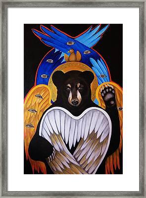 Black Bear Seraphim Framed Print by Christina Miller