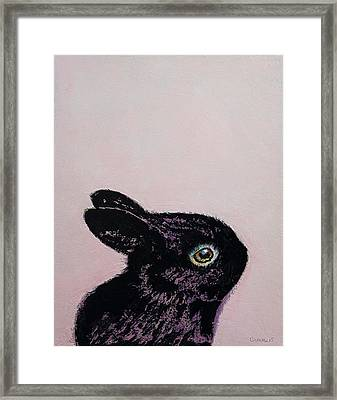 Black Bunny Framed Print by Michael Creese
