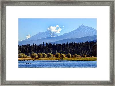 Black Butte Ranch Lake Framed Print by John Melton