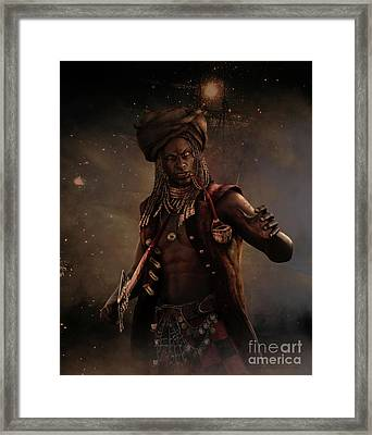 Black Caesar Pirate Framed Print by Shanina Conway