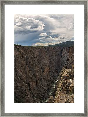 Black Canyon Of The Gunnison Framed Print by Loree Johnson