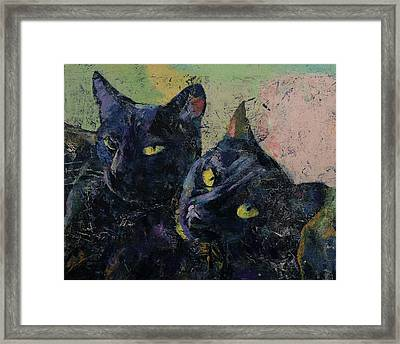 Black Cats Framed Print by Michael Creese
