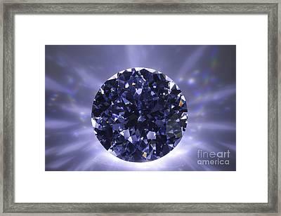 Black Diamond Shine Aura. Framed Print by Atiketta Sangasaeng