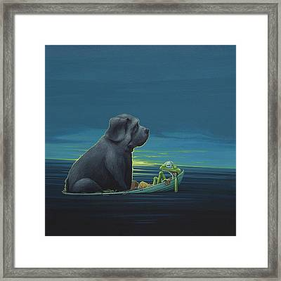 Black Dog Framed Print by Jasper Oostland