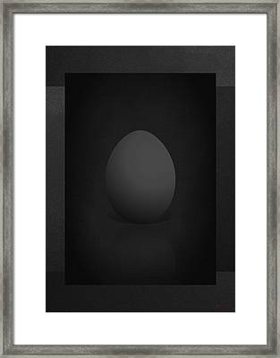 Black Egg On Black Canvas  Framed Print by Serge Averbukh