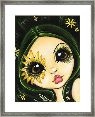 Black-eyed Susan Framed Print by Elaina  Wagner