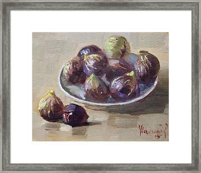 Black Figs Framed Print by Ylli Haruni