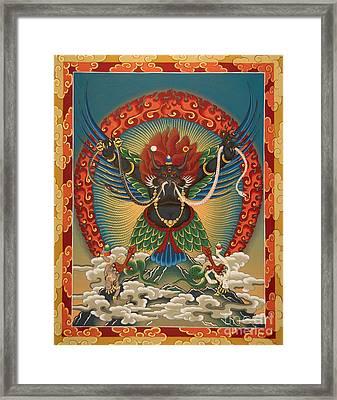 Black Garuda - Tsasum Tersar Framed Print by Sergey Noskov