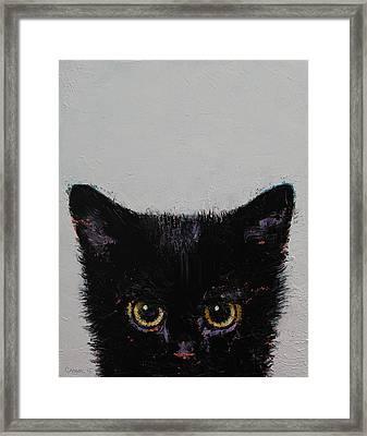 Black Kitten Framed Print by Michael Creese