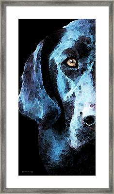 Black Labrador Retriever Dog Art - Hunter Framed Print by Sharon Cummings