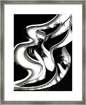 Black Magic Inverted Framed Print by Sharon Cummings