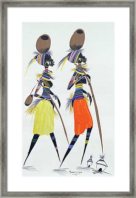 Black Models Framed Print by Oglafa Ebitari Perrin