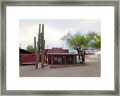 Black Mountain Feed Framed Print by Gordon Beck