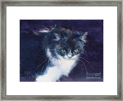 Black On Blacl Framed Print by Kimberly Santini