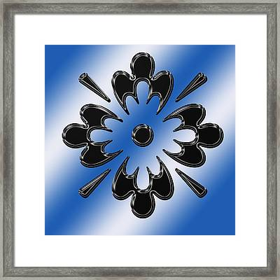 Black On Blue Abstract Framed Print by Aimee L Maher Photography and Art Visit ALMGallerydotcom