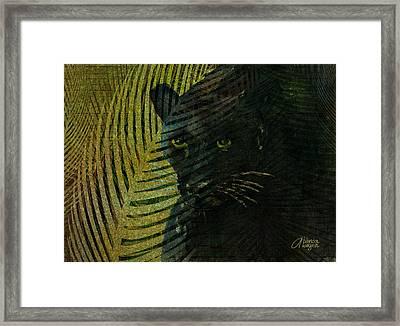 Black Panther Framed Print by Arline Wagner
