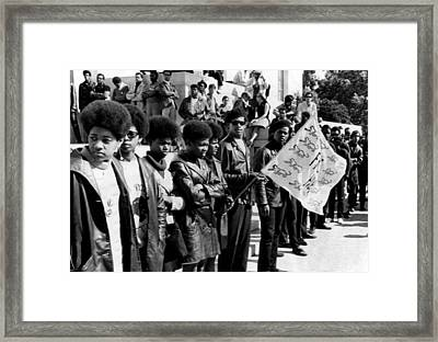 Black Panther Party Members Show Framed Print by Everett