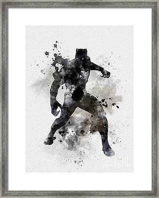 Black Panther Framed Print by Rebecca Jenkins