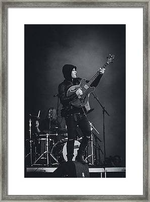 Black Rebel Motorcycle Club Playing Live Framed Print by Marco Oliveira