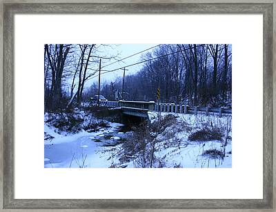 Black Rock Bridge Framed Print by William Albanese Sr