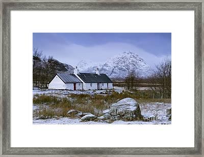 Black Rock Cottage Glencoe Framed Print by John Potter