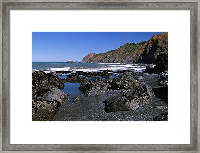 Black Sand - Sinkyone Wilderness Framed Print by Soli Deo Gloria Wilderness And Wildlife Photography