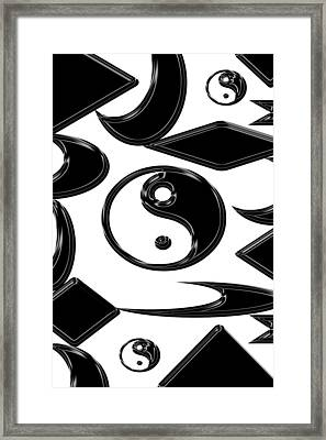 Yin Yang  Abstract Framed Print by Aimee L Maher Photography and Art Visit ALMGallerydotcom