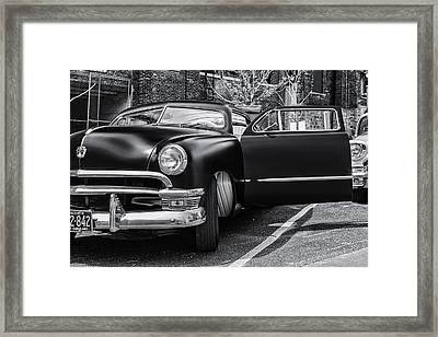 Black Silk Framed Print by CJ Schmit