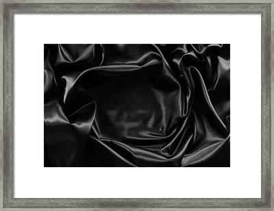 Black Silk  Framed Print by Les Cunliffe