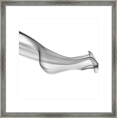 Black Smoke Abstract Framed Print by Art Spectrum