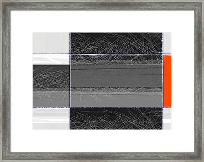 Black Square Framed Print by Naxart Studio