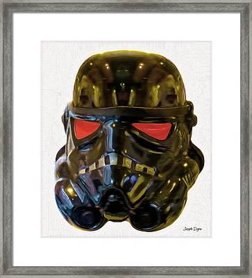 Black Stormtrooper - Pa Framed Print by Leonardo Digenio