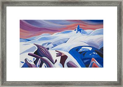 Black Tusk Sunrise Framed Print by Ginevre Smith