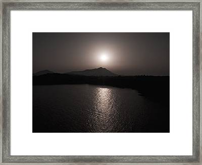 Black And White Nature Landscape Photography Art Print Framed Print by Artecco Fine Art Photography