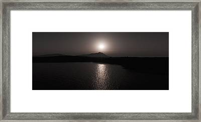 Black And White Nature Landscape Panorama Photography Art Print Framed Print by Artecco Fine Art Photography
