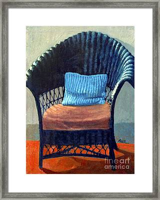 Black Wicker Chair Framed Print by Donald Maier
