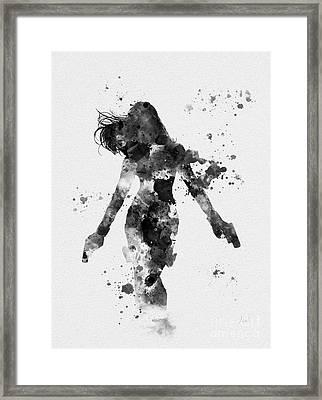 Black Widow Framed Print by Rebecca Jenkins
