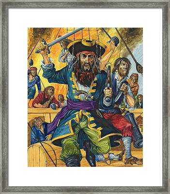 Blackbeard Framed Print by Richard Hook