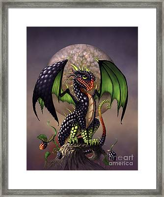 Blackberry Dragon Framed Print by Stanley Morrison