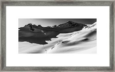 Blackcomb Backcountry Framed Print by Ian Stotesbury