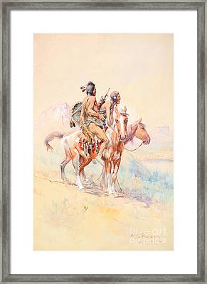 Blackfeet Scouts Framed Print by Celestial Images