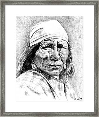 Blackfoot Woman Framed Print by Toon De Zwart