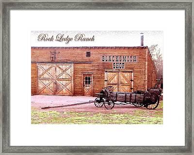 Blacksmith Shop Framed Print by Cristophers Dream Artistry