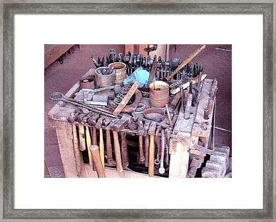 Blacksmith Tools Framed Print by Cristophers Dream Artistry