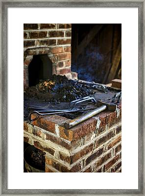 Blacksmith Workspace Framed Print by Heather Applegate