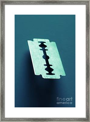 Blade On Blue Framed Print by Carlos Caetano