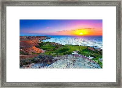 Blanche Point Sunset Framed Print by Bill  Robinson
