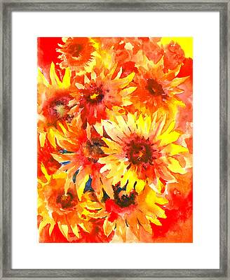 Blanket Flowers Framed Print by Suren Nersisyan