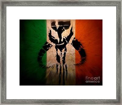 Blasting Irish Mandalorian Framed Print by Justin Moore